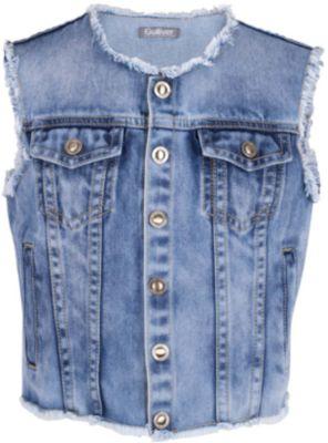 Жилет джинсовый для девочки Gulliver - синий