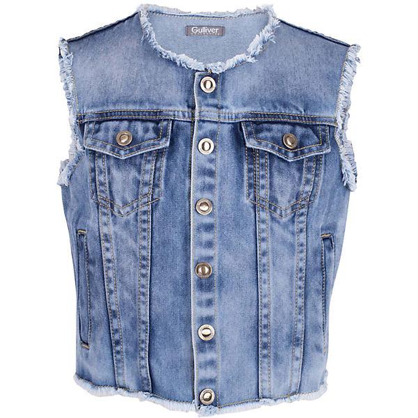 Жилет джинсовый для девочки Gulliver