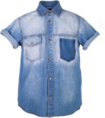 Рубашка джинсовая для мальчика Gulliver - синий