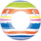Круг для плавания в полоску, с ручками, 91 см, Bestway