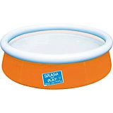 Бассейн с надувным бортом, оранжевый, Bestway