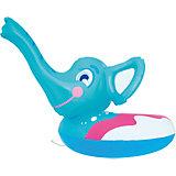 Круг для плавания Слоник с брызгалкой, Bestway, голубой
