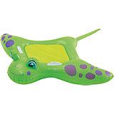 """Детский надувной матрас с ручками """"Скат"""", Bestway, зеленый"""