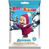 Влажные салфетки Маша и медведь детские кремовые 20шт., Авангард