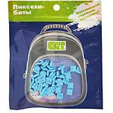 Набор для рюкзака 4ALL пиксель-Бит, голубой, 80 шт