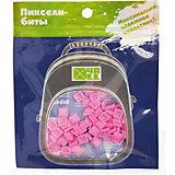 Набор для рюкзака 4ALL пиксель-Бит, светло-розовый, 80 шт