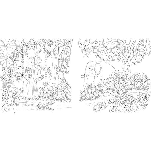 Купить раскраску антистресс удивительные джунгли
