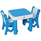 Набор: стол+стул, Eduplay, голубой