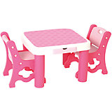 Набор: стол+стул, Eduplay, розовый