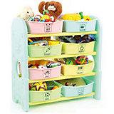 Стеллаж для игрушек с ящиками, Eduplay