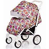 Прогулочная коляска BabyHit DRIVE-FLOWERS, цветы, белая рама