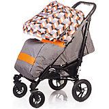 Прогулочная коляска DRIVE, Babyhit, серо-оранжевая