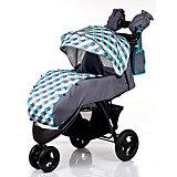 Прогулочная коляска BabyHit VOYAGE AIR, серый с голубым