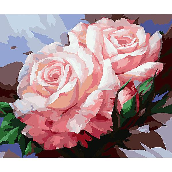 """Живопись на холсте """"Нежные розы"""", 40*50 см"""