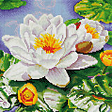 """Мозаика на подрамнике """"Нимфея озерная"""""""