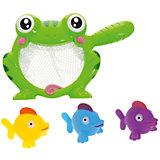"""Набор резиновых игрушек для ванной """"Веселое купание"""": 3 рыбки и лягушка-сачок, 4 предм., ABtoys"""