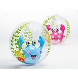 Надувной мяч полупрозрачный (с надувн.рыб.внутри), 61см, Intex