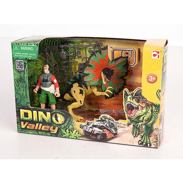Набор: Дилофозавр и охотник со снаряжением, Chap Mei