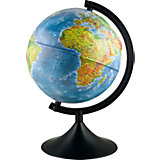 Глобус Земли физический рельефный, диаметр 250 мм