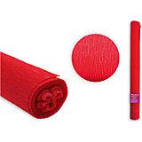Цветная крепированная бумага 50х250 см, оттенок красный