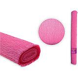 Цветная крепированная бумага 50х250 см, оттенок пурпурно-розовый