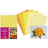 Набор фоамирана, 10листов, 1мм, А4, 5 цветов в ассортименте, желтая палитра