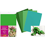 Набор фоамирана, 10листов, 1мм, А4, 5 цветов в ассортименте, зеленая палитра