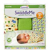 Конверт на липучке Swaddleme, размер S/M, 3шт., Summer Infant, зеленый/лесные зверята/точки