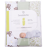 Набор пеленок Muslin Swaddleme, 3 шт., Summer Infant, зеленый/мартышки