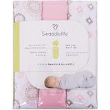 Набор пеленок Muslin Swaddleme, 3 шт., Summer Infant, розовый/орнамент