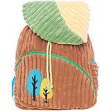 """Рюкзачок """"Лес"""", бежево-зеленый,  20*28 см."""