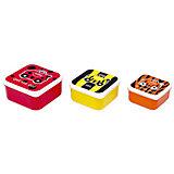 Контейнеры для еды 3 шт, красный, оранжевый, желтый