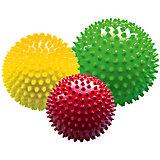 """Набор мячей большой """"Светофор"""", в сетке , ∅ 8,5 см, 12 см, 18 см, МалышОК"""