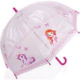 """Зонт-трость, детский, рисунок """"Розовый пони"""""""