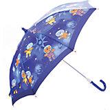 Зонт-трость, детский, бежево-коричневый