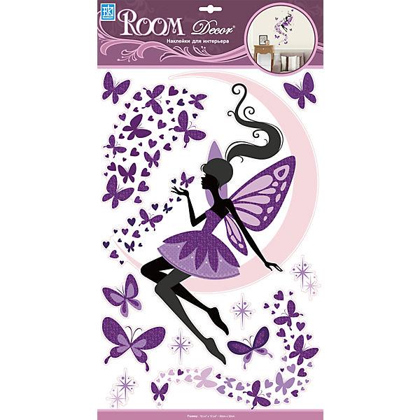 Наклейка Фея на луне RCA 9371, Room Decor