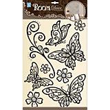 Наклейка Бабочки (металик) POA5803, Room Decor, черный