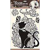 Наклейка Кошечка в цветах POA5855, Room Decor