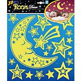 Наклейка Месяц светящийся PSA2702, Room Decor