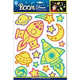 Наклейка Светящиеся ракеты REA 4603, Room Decor