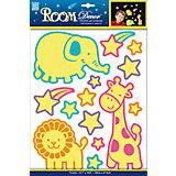 Наклейка Светящийся зоопарк REA 4605, Room Decor