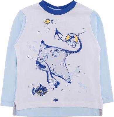 Футболка с длинным рукавом для мальчика Мамуляндия - голубой