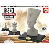 Скульптурный пазл Нефертити 3D, 190 деталей, Educa