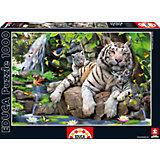 """Пазл """"Белые Бенгальские Тигры"""", 1000 деталей, Educa"""