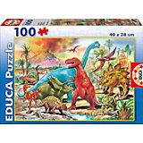 """Пазл """"Динозавры"""", 100 деталей, Educa"""