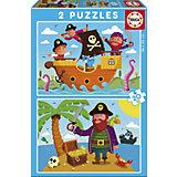 Пазлы Пираты, 40 деталей, Educa