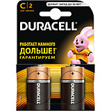 Батарейки алкалиновые Basic 1.5V LR14, тип AA, 2шт., DURACELL