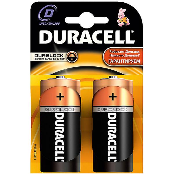 Батарейки алкалиновые Basic D 1.5V LR20, тип AA, 2шт., DURACELL