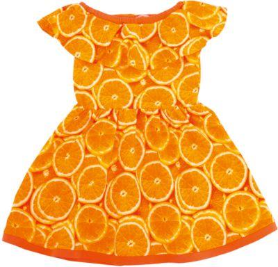 Платье для девочки Апрель - оранжевый