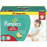 Трусики Pampers Pants, Junior, 12-18кг, размер 5, 96 шт., Pampers